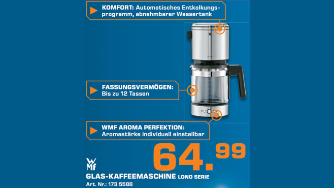 WMF Lono Kaffeemaschine Glas ©Saturn