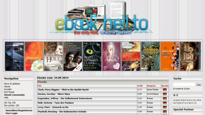Böse eBook-Seiten: Ebook-hell.to ©COMPUTER BILD