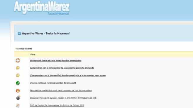 Gefährlich Spiele-Seiten: Argentinawarez.com ©COMPUTER BILD