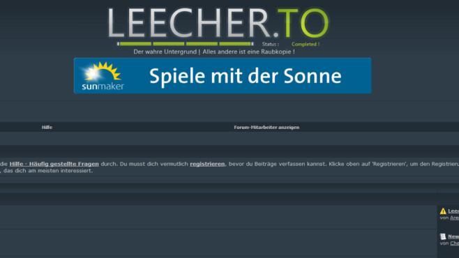 Gefährlich Spiele-Seiten: Leecher.to ©COMPUTER BILD