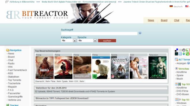 Miese Filmportale: Bitreactor.to ©COMPUTER BILD