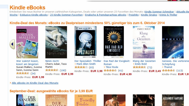 Gute eBook-Portale: Amazon © COMPUTER BILD