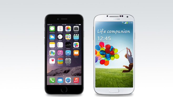 Apple iPhone 6 Samsung Galaxy S4 © Apple, Samsung