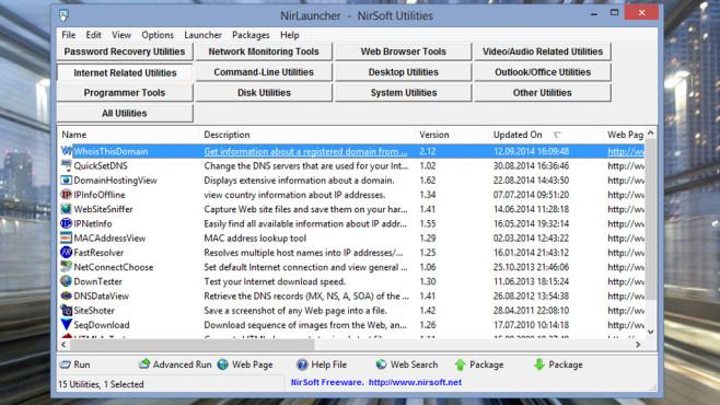 NirLauncher: Verschiedenste Daten auslesen ©COMPUTER BILD