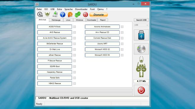 SARDU: Festplatte auf Viren pr�fen ©COMPUTER BILD