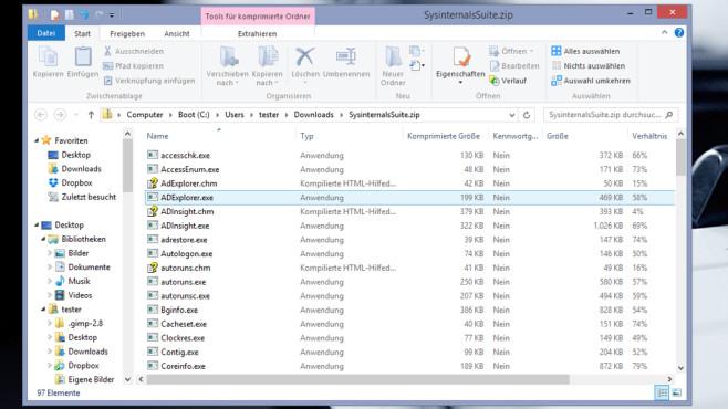 Sysinternals Suite: System analysieren und verbessern ©COMPUTER BILD