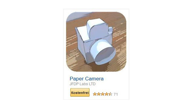 Paper Camera ©JFDP Labs LTD