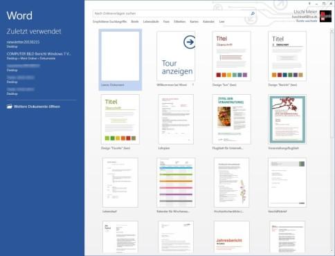 Microsoft Word 2013 ©COMPUTER BILD