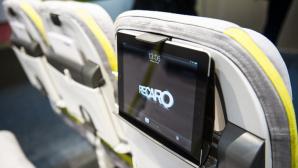 Tablet im Flugzeug ©dpa Bildfunk