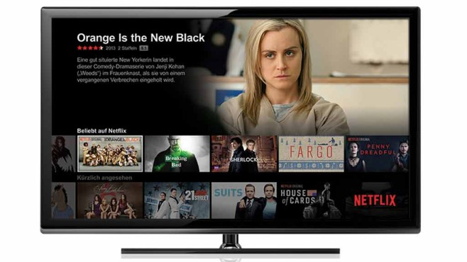 Netflix auf Smart-TV © Screenshot: netflix.com,