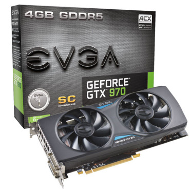 EVGA Geforce GTX 970 Superclocked ACX 4096MB GDDR5 © EVGA