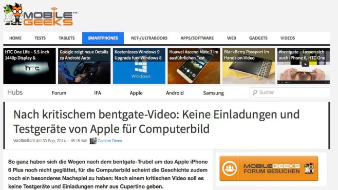 Screenshot Mobile Geeks © COMPUTER BILD