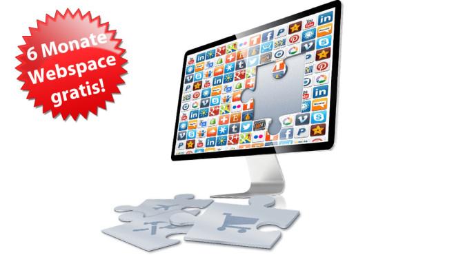Webspace 6 M0nate gratis ©1&1, COMPUTER BILD