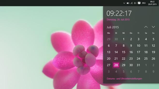 Datum- und Uhrzeit-Dialog aufgefrischt ©COMPUTER BILD