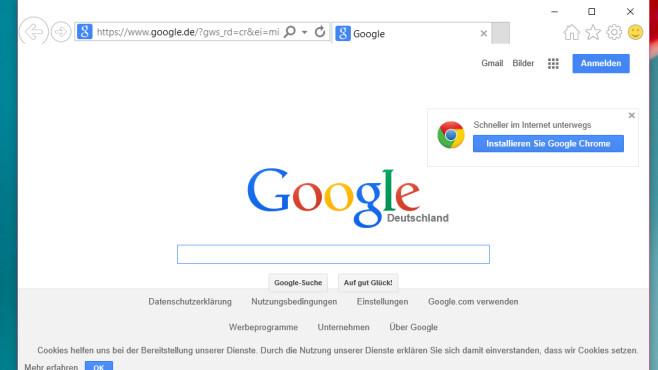 Existiert noch: der Internet Explorer ©COMPUTER BILD