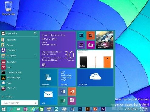 Windows 10 Technical Preview © COMPUTER BILD
