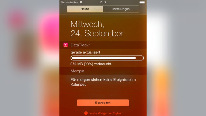Widget: DataTrackr © Philipp Nieting