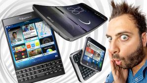 Verrückte Smartphone ©Antonio Gravante - Fotolia.com, carloscastilla - Fotolia.com, Blackberry, LG, Motorola