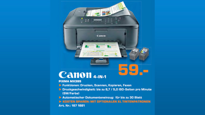 Canon PIXMA MX395 © Saturn