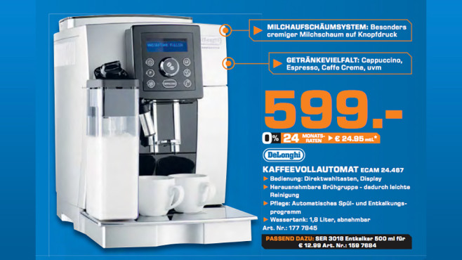 DeLonghi ECAM 24.467 © Saturn