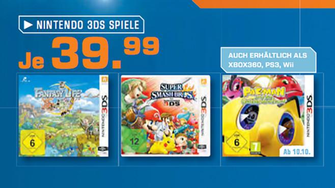 Nintendo-3DS-Spiele ©Saturn