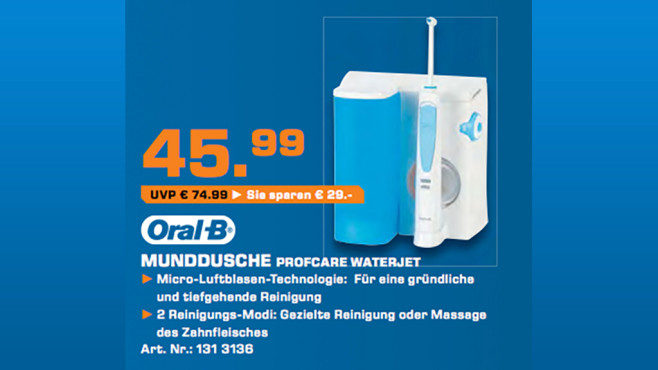 Oral-B Professional Care 6500 WaterJet MD16 © Saturn