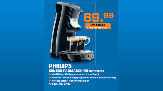 Philips Senseo Viva Café HD 7825/69 © Saturn