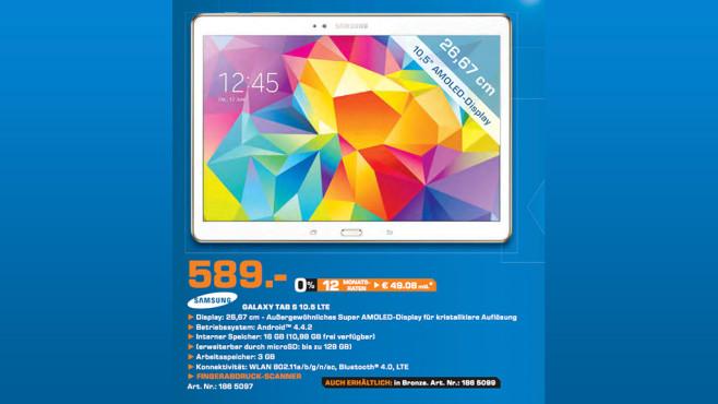 Samsung Galaxy Tab S 10.5 16GB LTE ©Saturn