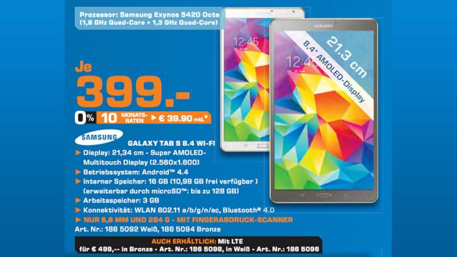 Samsung Galaxy Tab S 8.4 ©Saturn