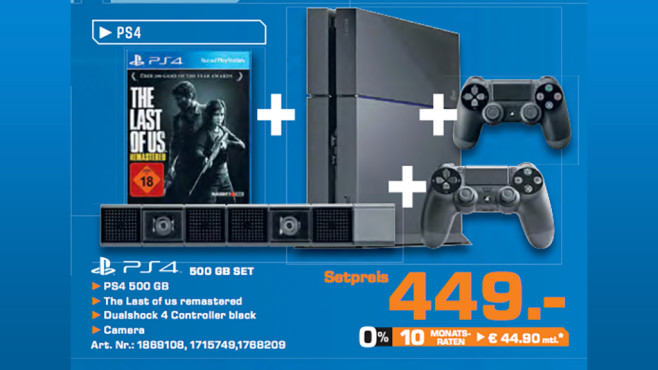 Sony PlayStation 4 (PS4) 500GB + The Last of Us: Remastered © Saturn