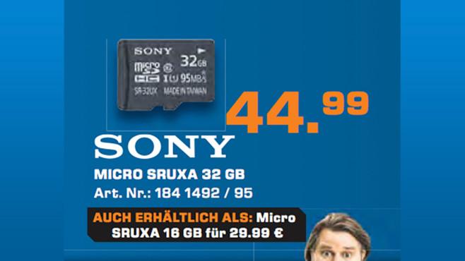 Sony microSDHC 32GB Class 10 UHS-I (SR32UXA) ©Saturn