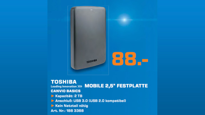Toshiba Canvio Basics 2TB © Saturn