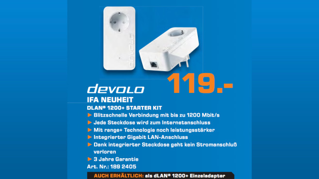 devolo dLAN 1200+ Starter Kit © Saturn