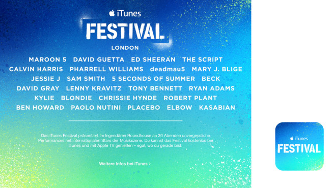 iTunes Festival © Apple