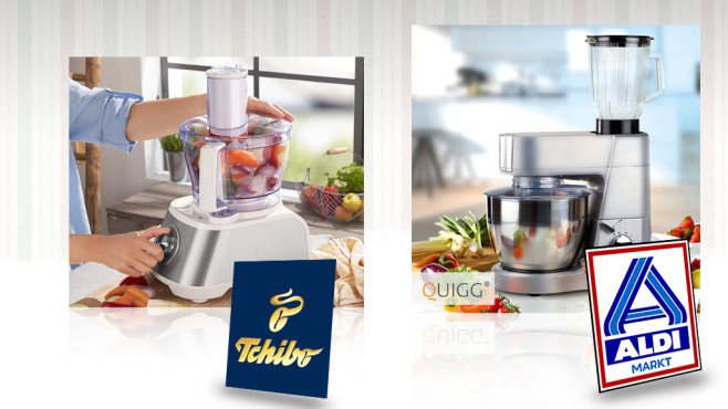 Küchenmaschinen von Aldi und Tchibo - COMPUTER BILD