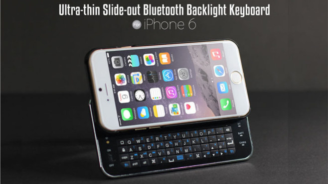 Brando iPhone 6 Slide-Out Bluetooth Backlight Keyboard © Brando