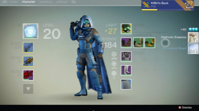 Destiny: Exotische Items © Activision, YouTube-User Kirbys Back