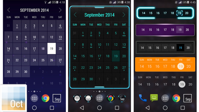 Month � Calendar Widget © Candl Apps