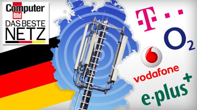 Der große Mobilfunk-Test ©Telekom, O2, Vodafone, e-plus, bluedesign - Fotolia.com, pico - Fotolia.com