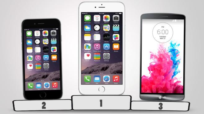 Smartphone-Test: Die besten Modelle ©Apple, LG/COMPUTER BILD