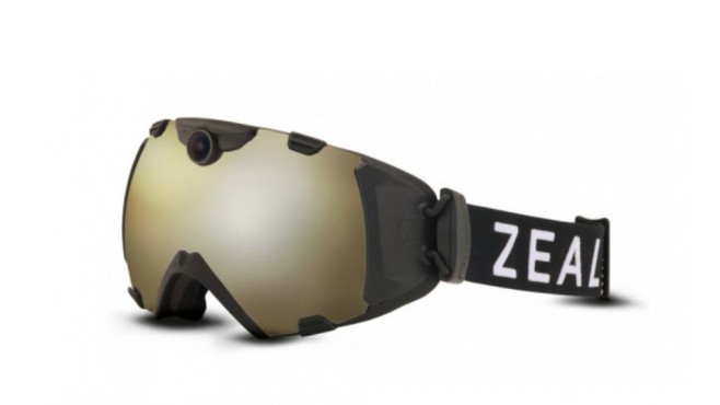 Zeal Optics HD Camera Goggle Gold Flash © Zeal Optics