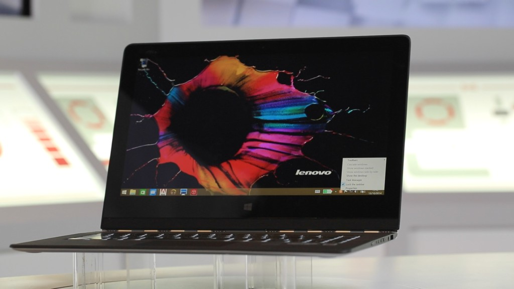 lenovo yoga 3 pro test der schlanken notebook tablet kombination computer bild. Black Bedroom Furniture Sets. Home Design Ideas
