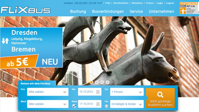 Screenshot Flixbus © COMPUTER BILD