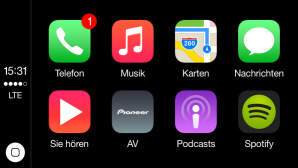 Apps im Auto ©Apple