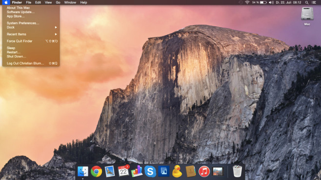 OS X Yosemite © Apple