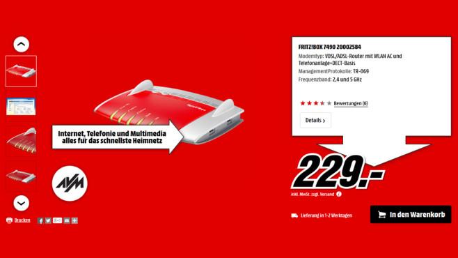 AVM FRITZ!Box 7490 ©Media Markt