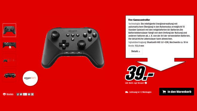 Amazon Fire Game Controller © Media Markt