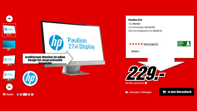 Hewlett-Packard HP Pavilion 27xi © Media Markt