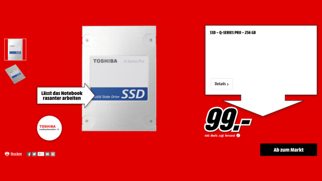 Toshiba Q Series Pro 256GB © Media Markt