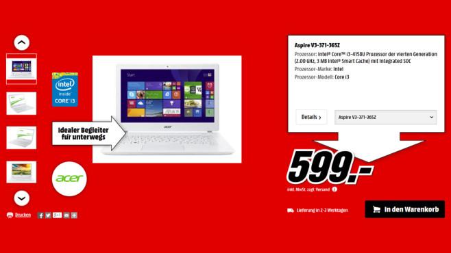Acer Aspire V3-371-365Z ©Media Markt